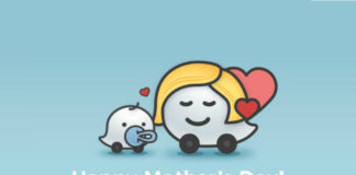 Happy Mother's Day from Waze
