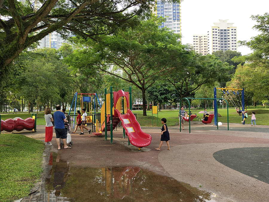 Playground photo taken with the Vivo X21