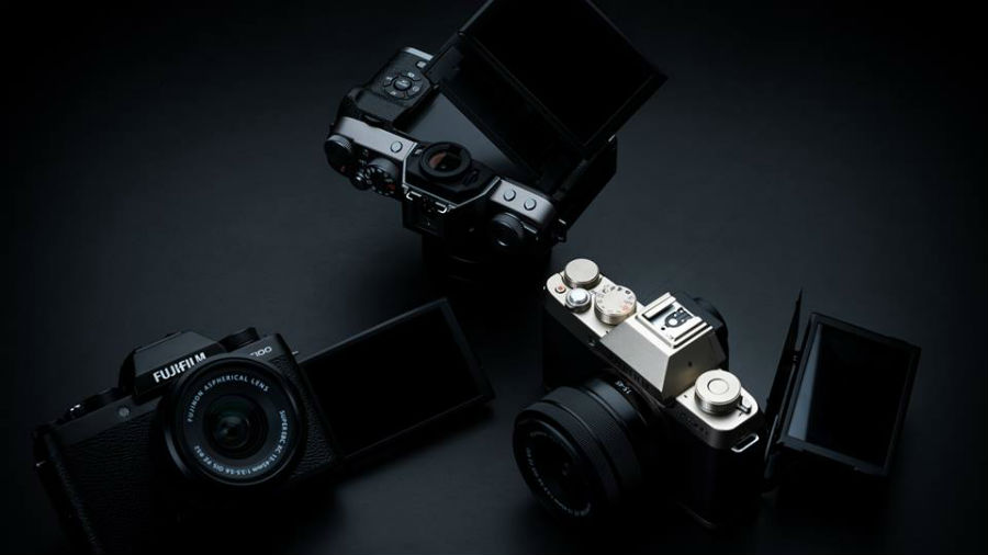 Fujifilm X-T100 top down view