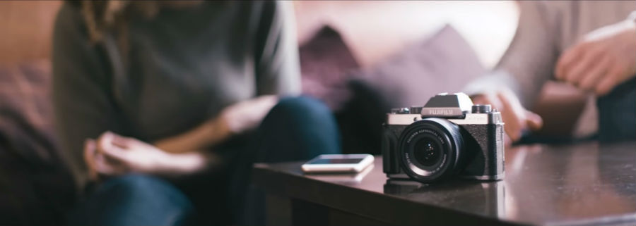 Fujifilm X-T100 on table