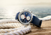 IWC Schaffhausen Portugieser Yacht Club Summer Edition on nautical background