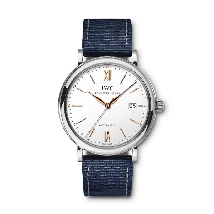 IWC Schaffhausen Portofino Chronograph with blue strap