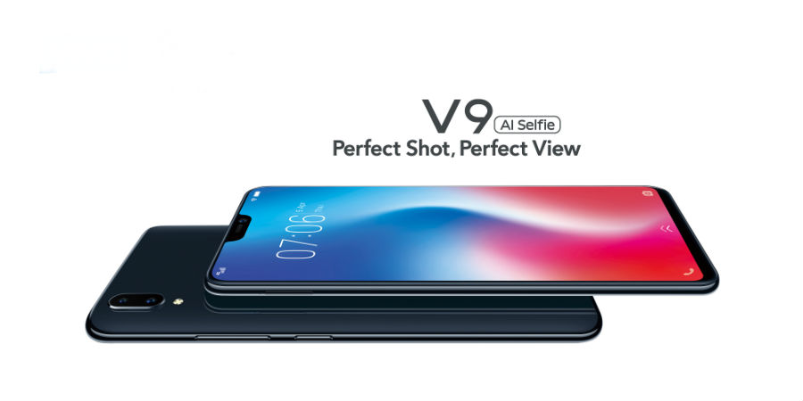 Vivo V9 face down and face up