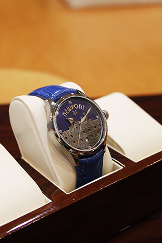 Alexander Shorokhov's Newport watch on display