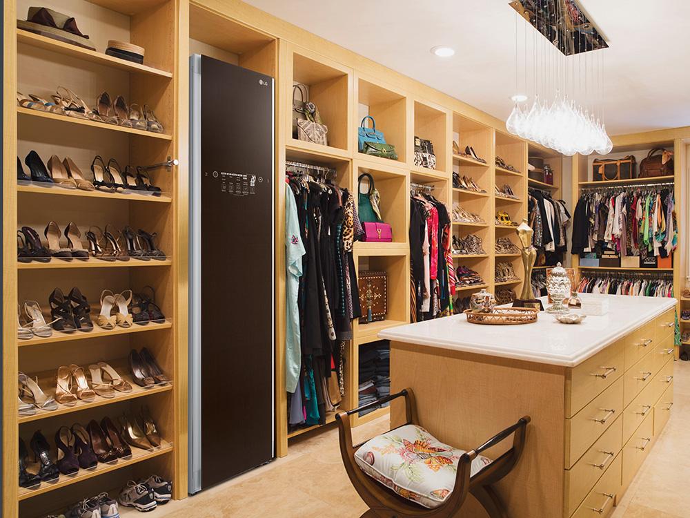 LG Styler in wardrobe