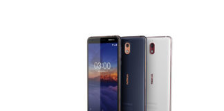 Nokia 3.1 in their different colours