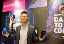Mr. Cheng Jiangfei, Managing Director, Huawei Singapore Consumer Business Group, presenting the new HUAWEI nova 3i at a media launch event.
