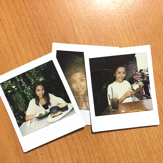 Vanessa's pictures of her friend using an instax Square SQ6
