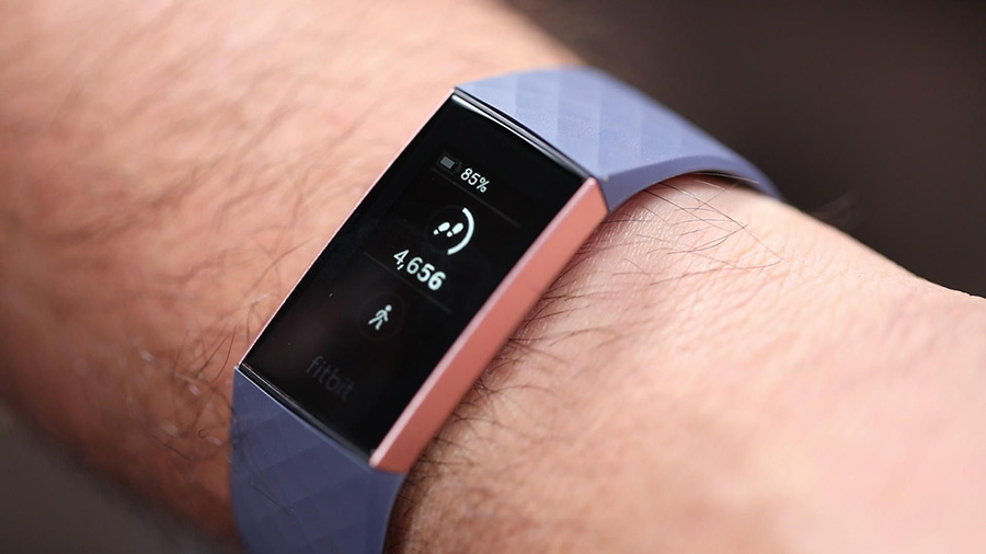 Fitbit Charge 3's interface