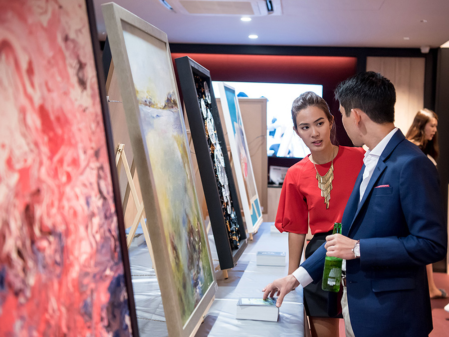 Works featured from Kohler's Charity Art Jamming event