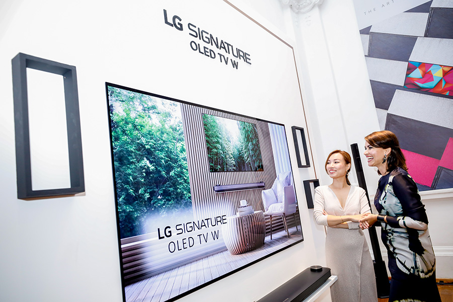 LG SIGNATURE OLED TV W8 at the event