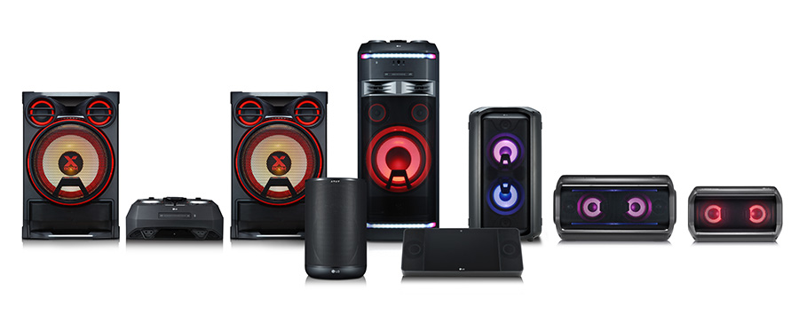 The LG XBOOM range of speakers