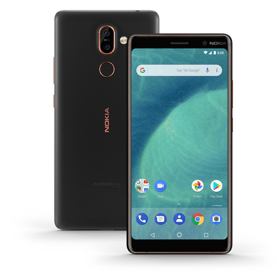Nokia 7 Plus in black