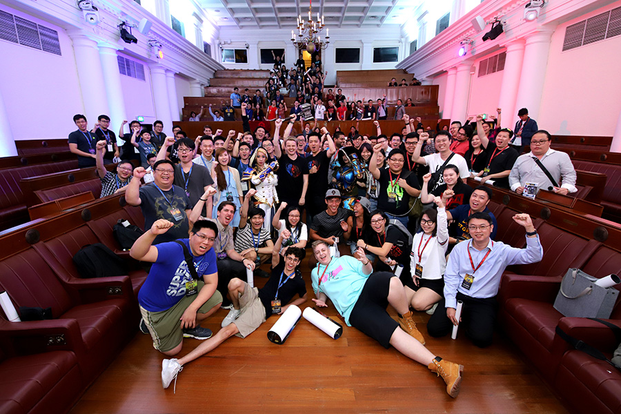 Blizzard Entertainment's World of Warcraft Fan Event group photo