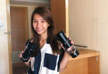 Vanessa holding her Tic Travel Bottle