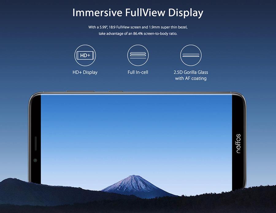neffos X9 FullView Display