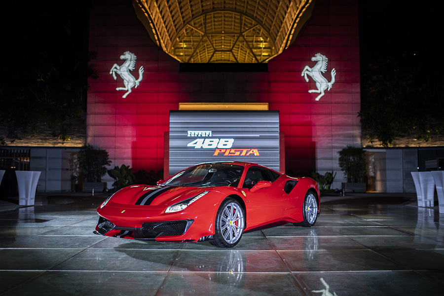 The Ferrari 488 Pista at the event