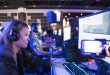 Players enjoying games at GameStart 2018