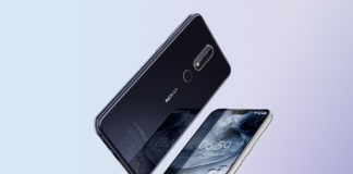 Two Nokia 6.1 in Gloss Black