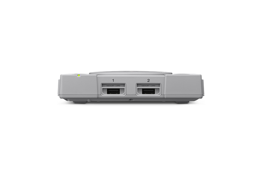 PlayStation Classic console viewed from the front