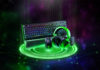 Razer Kraken Tournament Edition, the Razer BlackWidow Elite, and the Razer Mamba