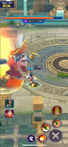 A boss battle in Disney Epic Quest