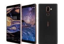 Nokia 7 Plus in Copper White and Black