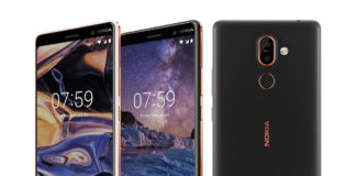 Nokia 7 Plus in Copper White and Black