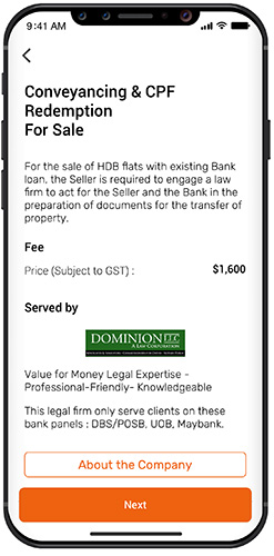 Conveyancing in the app
