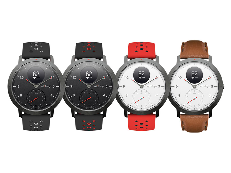 Steel HR Sport in various strap and face colours