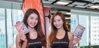 Plantronics models for the event holding BackBeat headsets