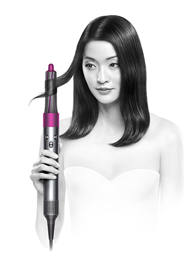 The Coanda effect attracting hair to the Dyson Airwrap styler