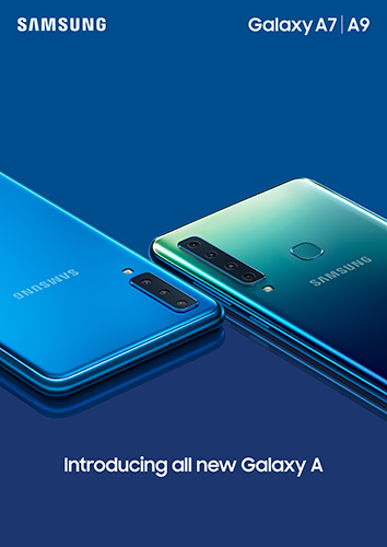 Samsung Galaxy A9 in Lemonade Blue