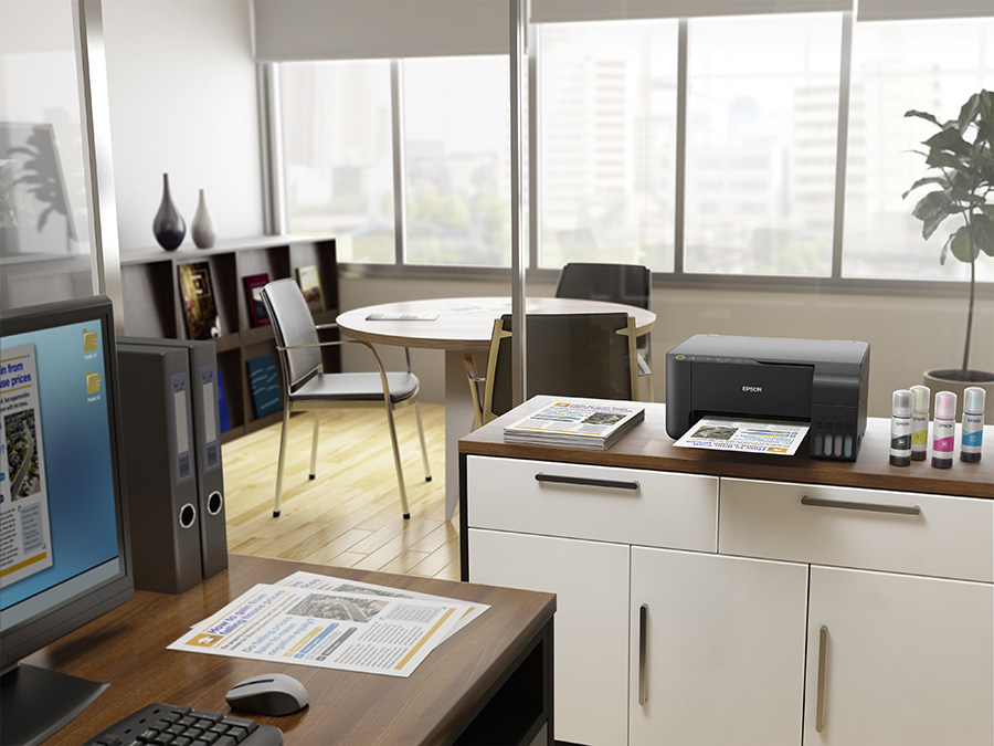 Office with Epson Ecotank printer