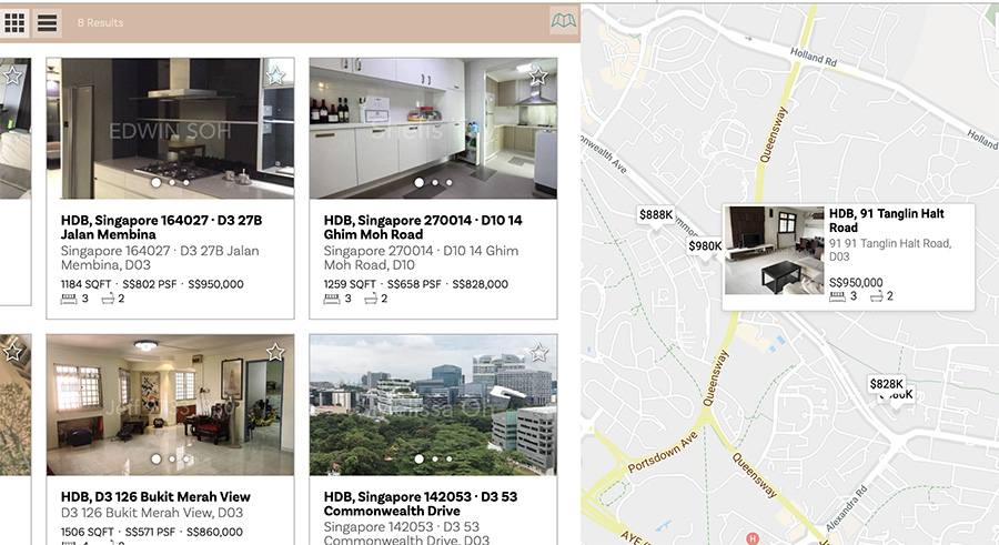 Preview your listings on the Map