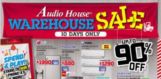 Audio House Warehouse Sale pamphlet
