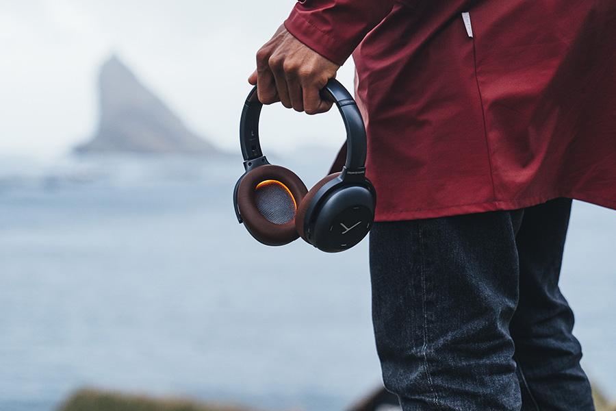 Lagoon ANC Explorer headphones outdoors
