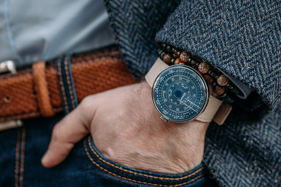 klokers watch in midnight blue