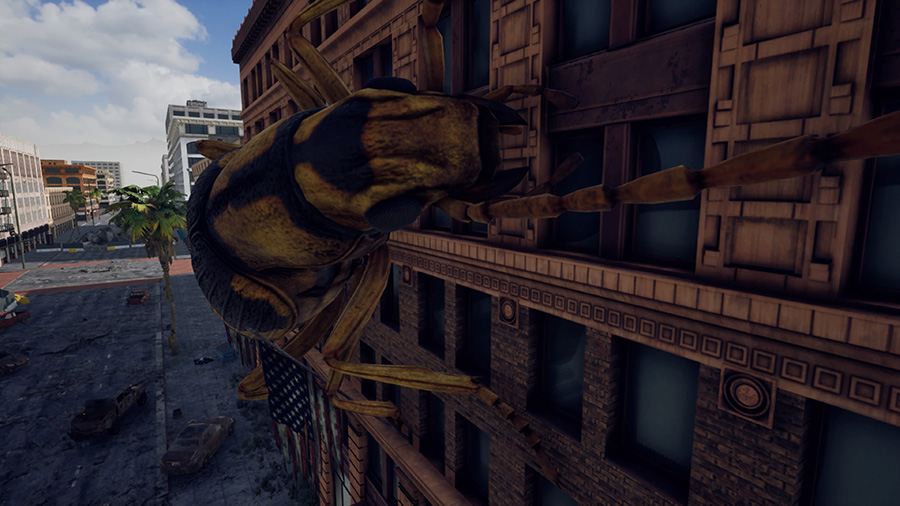 Screenshot from Earth Defense Force: Iron Rain