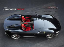 Top view of the Ferrari Monza SP2
