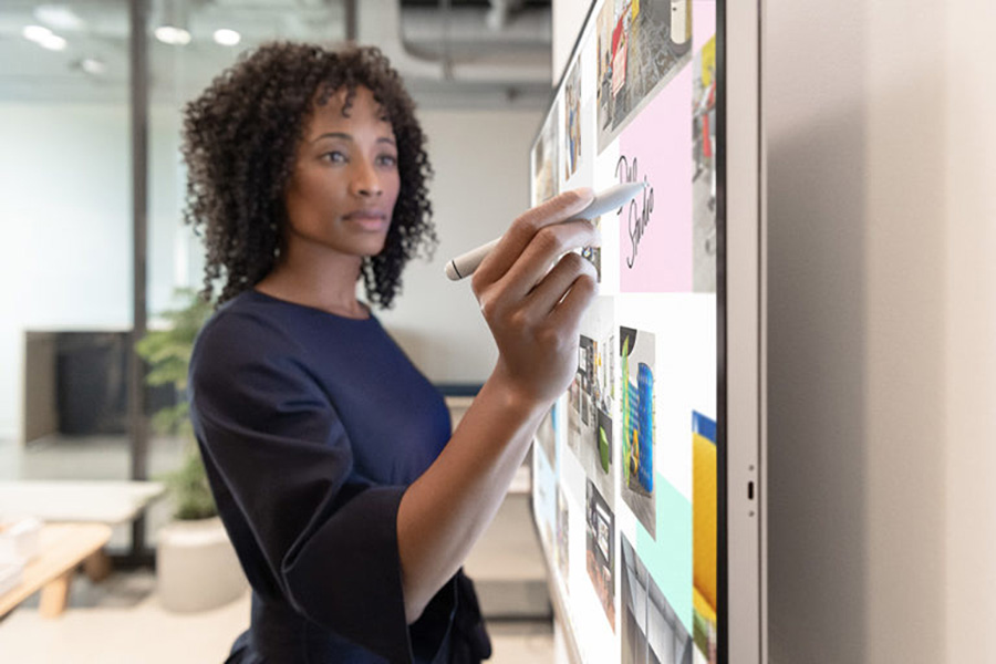 Microsoft Surface Hub 2S used in the office