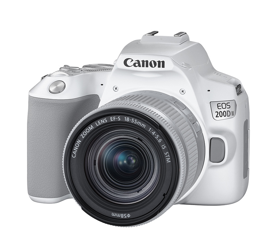 Canon EOS 200D II DSLR in white