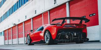 Ferrari P80/C parked outside a warehouse