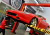Maintenance being carried out on a Ferrari for the Ferrari Premium programme