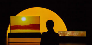 LG SIGNATURE OLED TV R art installation at Milan Design Week