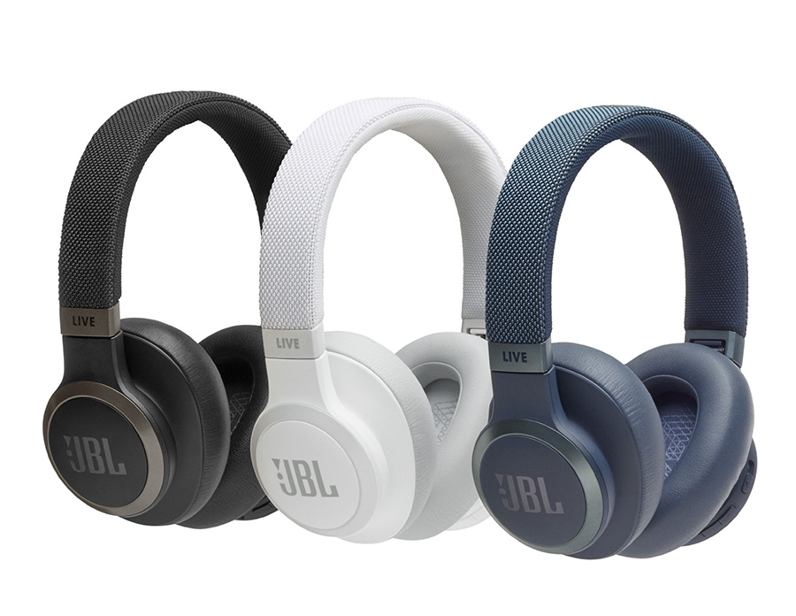 JBL LIVE 650BT in their range of colours