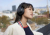 Woman wearing JBL Live Series 500BT Headphones