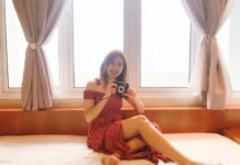 Natasha with the Fujifilm Instax LiPlay