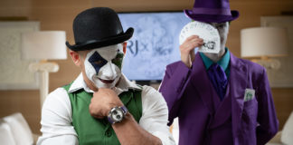 Costumed actors at the ARRAW the Joker Watch Event