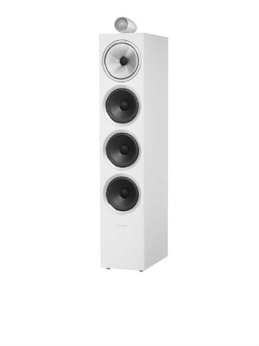 bowers & wilkins 702 S2 in satin white with grille off